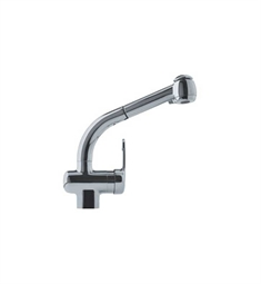 Franke FFPS680B Satin Nickel Pullout Spray Gooseneck Spout Kitchen Faucet with Dual Spray