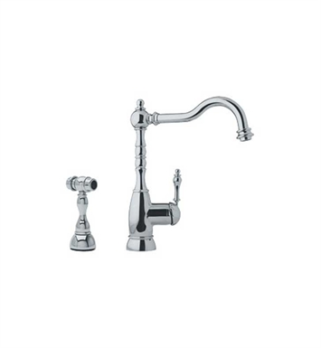 Franke FHF180 Satin Nickel Farm House Kitchen Faucet with Side Spray