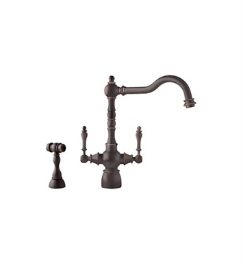 Franke FHF460 Old World Dark Bronze Farm House Kitchen Faucet with Side Spray