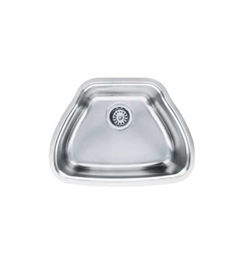 Franke CQX11019 Centennial Single Basin Undermount Stainless Steel Kitchen Sink with FREE Bottom Grid and Shelf Grid