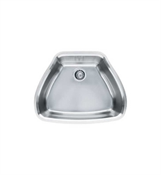 Franke CQX11024 Centennial Single Basin Undermount Stainless Steel Kitchen Sink with FREE Bottom Grid and Shelf Grid
