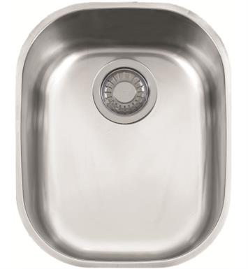 "Franke CPX11013 Compact 14 1/8"" Single Basin Undermount Stainless Steel Kitchen Sink"