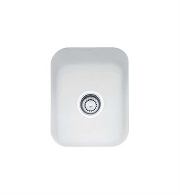 Franke CCK110-13MW Matte White Cisterna Single Basin Undermount Fireclay Bar Sink
