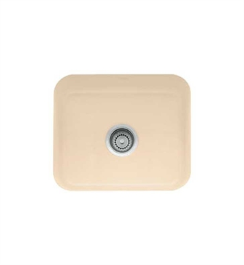 Franke CCK110-19BT Biscuit Single Basin Undermount Fireclay Bar Sink
