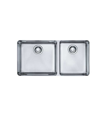 Franke KBX12034 Kubus Double Basin Undermount Stainless Steel Kitchen Sink