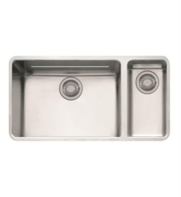 "Franke KBX160 Kubus 33 1/8"" Double Basin Undermount Stainless Steel Kitchen Sink"