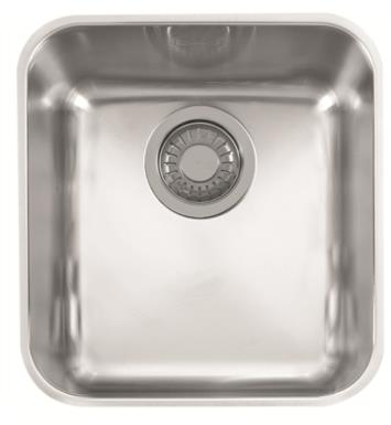 "Franke LAX11015 Largo 16 3/8"" Single Basin Undermount Stainless Steel Kitchen Sink"