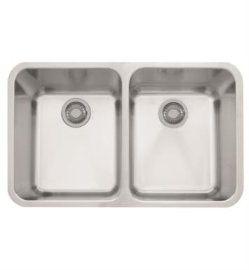 "Franke LAX12031 Largo 31 3/8"" Double Basin Undermount Stainless Steel Kitchen Sink"