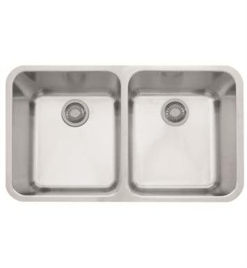 "Franke LAX12034 Largo 33 5/8"" Double Basin Undermount Stainless Steel Kitchen Sink"
