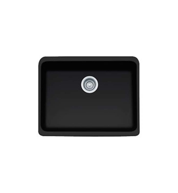 Franke MHK110-24MB Manor House Single Basin Farmhouse Fireclay Kitchen Sink in Matte Black