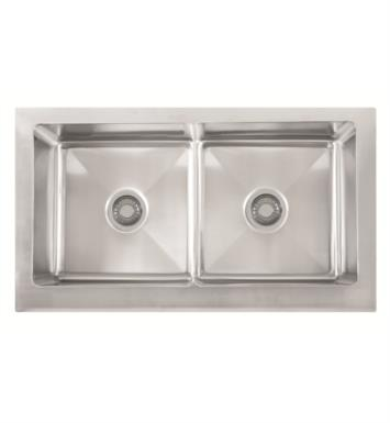 "Franke MHX720-36 Manor House 36"" Double Basin Apron Front Stainless Steel Kitchen Sink"