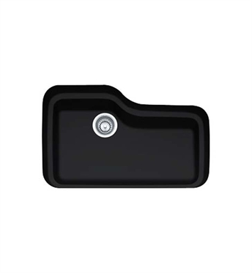 Franke ORK110MB Orca Single Basin Undermount Fireclay Kitchen Sink in Matte Black