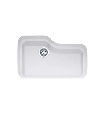 Franke ORK110MW Orca Single Basin Undermount Fireclay Kitchen Sink in Matte White
