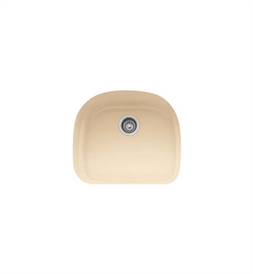 Franke PRK11021BT Prestige Single Basin Undermount Fireclay Kitchen Sink in Biscuit