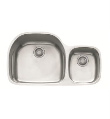 "Franke PRX120 Prestige 35 5/8"" Double Basin Undermount Stainless Steel Kitchen Sink with Ledge"