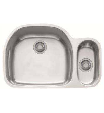 "Franke PRX160 Prestige 31 1/8"" Double Basin Undermount Stainless Steel Kitchen Sink with Ledge"