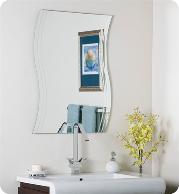 Decor Wonderland SSM1001 Wave Frameless Wall Mirror