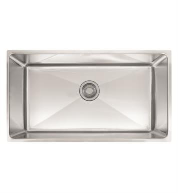 "Franke PSX1103310 Professional 34"" Single Basin Undermount Stainless Steel Kitchen Sink"