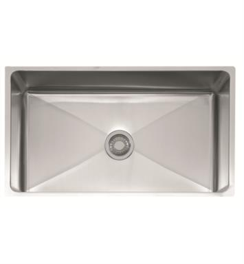 "Franke PSX110339 Professional 34"" Single Basin Undermount Stainless Steel Kitchen Sink"