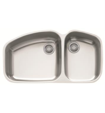 "Franke VNX12037 Vision 38"" Double Basin Undermount Stainless Steel Kitchen Sink"