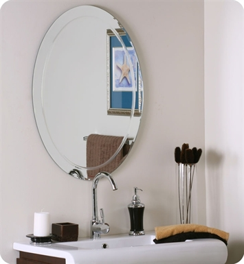 Decor Wonderland SSM1033 Frameless Oval Wall Mirror