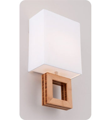 Ayre ARC1-A-WS-BA-BB-INC Boutique Arcadia ADA Wall Sconce Light With Finish: Brushed Aluminum And Lamping Type: Incandescent And Wood Finish: Bamboo