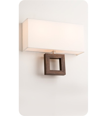 Ayre ARCD-A-WS-BA-EB-FL Boutique Arcadia Double ADA Wall Sconce Light With Finish: Brushed Aluminum And Lamping Type: Fluorescent And Wood Finish: Ebony