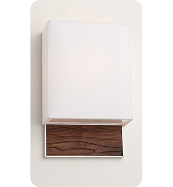 Ayre AZU1-A-WS-PA-SP-INC Boutique Azura ADA Wall Sconce Light With Finish: Polished Aluminum And Lamping Type: Incandescent And Wood Finish: Sapele