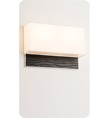 Ayre AZUD-A-WS-BA-EB-FL Boutique Azura Double ADA Wall Sconce Light With Finish: Brushed Aluminum And Lamping Type: Fluorescent And Wood Finish: Ebony