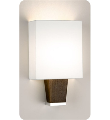 Ayre CAP1-A-WS-BA-EB-INC Boutique Capri ADA Wall Sconce Light With Finish: Brushed Aluminum And Lamping Type: Incandescent And Wood Finish: Ebony