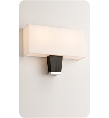 Ayre CAPD-A-WS-BA-EB-FL Boutique Capri Double ADA Wall Sconce Light With Finish: Brushed Aluminum And Lamping Type: Fluorescent And Wood Finish: Ebony