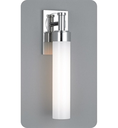 Ayre Circ Single ADA Wall Sconce Light with Shiny Opal Glass Diffuser