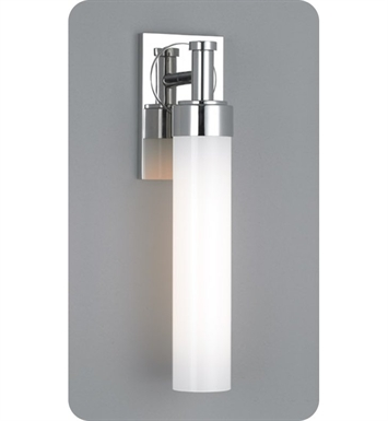 Ayre CIR1-A-SO-BN-INC Circ Single ADA Wall Sconce Light with Shiny Opal Glass Diffuser With Finish: Brushed Nickel And Lamping Type: Incandescent