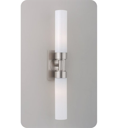 Ayre Circ Duo ADA Wall Sconce Light with Shiny Opal Glass Diffuser