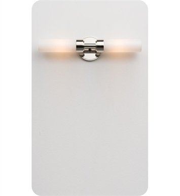 Ayre CIRDR-A-SO-PN-INC Circ Duo R Wall Sconce ADA Light with Shiny Opal Glass Diffuser With Finish: Polished Nickel And Lamping Type: Incandescent