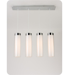 Ayre CIRPL4D-P-SO-CL Circ 4 Light Linear Multi Pendant with Droplet Canopy