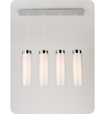Ayre CIRPL4D-P-SO-CL-BN-INC Circ 4 Light Linear Multi Pendant with Droplet Canopy With Finish: Brushed Nickel And Lamping Type: Incandescent