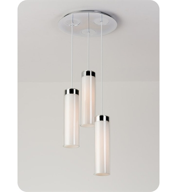 Ayre CIRPR3D-P-SO-CL-BN-LED Circ 3 Light Round Multi Pendant with Droplet Canopy With Finish: Brushed Nickel And Lamping Type: LED