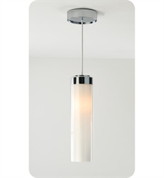 Ayre CIRP-P-SO-CL Circ Single Pendant Light with Shiny Opal & Clear Glass Diffuser