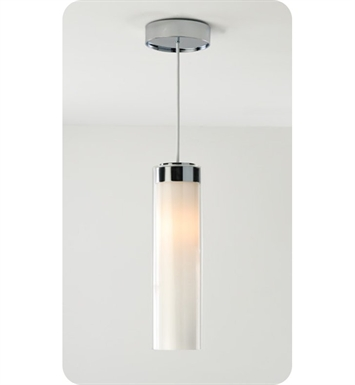 Ayre CIRP-P-SO-CL-CH-INC Circ Single Pendant Light with Shiny Opal & Clear Glass Diffuser With Finish: Polished Chrome And Lamping Type: Incandescent