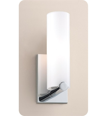Ayre CLK1-A-SO-CH-INC Clik ADA Wall Sconce Light with Shiny Opal Glass Diffuser With Finish: Polished Chrome And Lamping Type: Incandescent