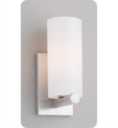 Ayre CLK2-S-SO Clik Wall Sconce Light with Shiny Opal Glass Diffuser