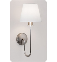 Ayre Cygnus Wall Sconce Light with White Shantung Diffuser