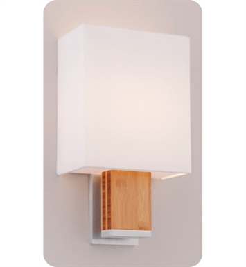 Ayre DIA1-A-WS-PA-BB-FL Boutique Dia ADA Wall Sconce Light With Finish: Polished Aluminum And Lamping Type: Fluorescent And Wood Finish: Bamboo