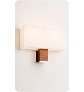 Ayre DIAD-A-WS-PA-MH-FL Boutique Dia Double ADA Wall Sconce Light With Finish: Polished Aluminum And Lamping Type: Fluorescent And Wood Finish: Mahogany