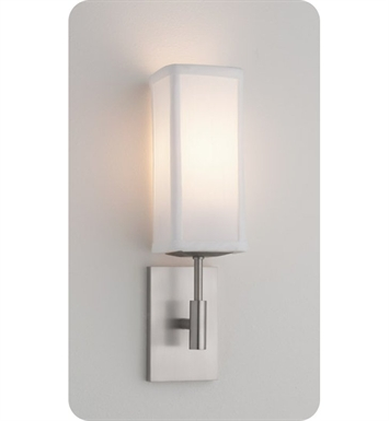 Ayre DIS1-A-WS-PN-INC District ADA Wall Sconce Light with White Shantung Diffuser With Finish: Polished Nickel And Lamping Type: Incandescent