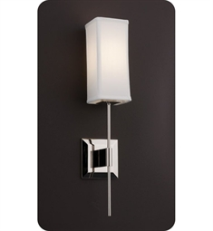 Ayre DIS2-S-WS District Wall Sconce Light with White Shantung Diffuser