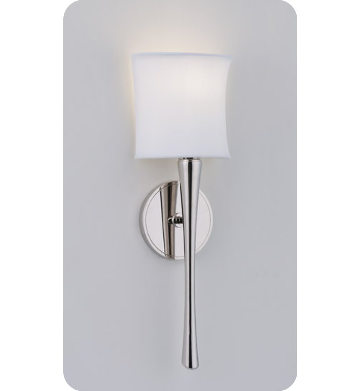 Ada Wall Sconces Led : Ayre EUR1-A-WS-CH-LED Euro ADA Wall Sconce Light with White Shantung Diffuser With Finish ...