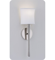 Ayre Euro EUR1 ADA Wall Sconce Light with White Shantung Diffuser