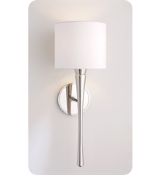 Ayre EUR2-S-WS Euro Wall Sconce Light with White Shantung Diffuser